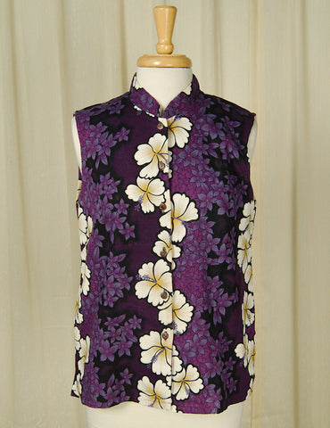2000s does 1960s Hibiscus Shirt by Vintage Collection by Cats Like Us : Cats Like Us