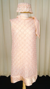 60s does 1920s Pink Lace Dress by Cats Like Us - Cats Like Us