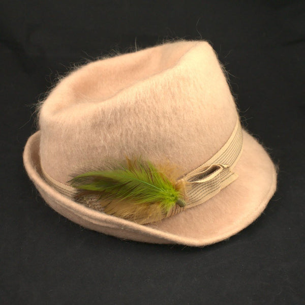 60s does 1940s Tan Wool Fedora - Cats Like Us