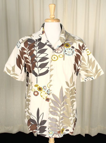 60s Inspired Tan Vintage Tropical Shirt
