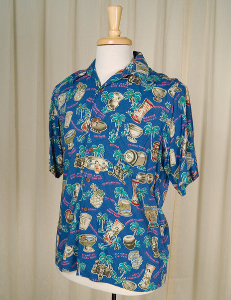 60s Style Tiki Drink Shirt by Cats Like Us - Cats Like Us