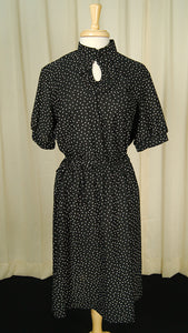 70s 1940s Keyhole Ruffle Dress by Vintage Collection by Cats Like Us : Cats Like Us