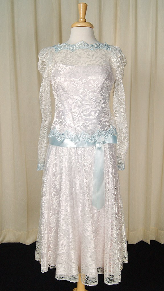 70s does 1920s Ice Blue Dress