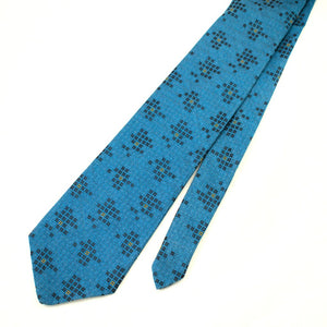 70s does 1940s Blue Grid Tie - Cats Like Us