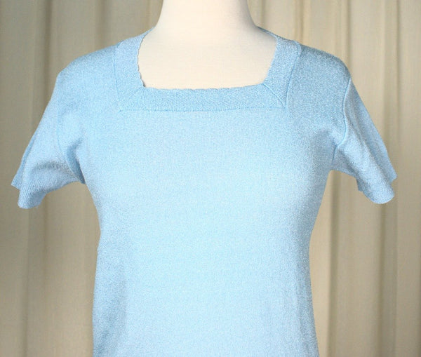 70s does 1940s Blue SS Sweater