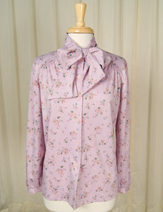 70s does 1940s Lavender Blouse by Cats Like Us - Cats Like Us