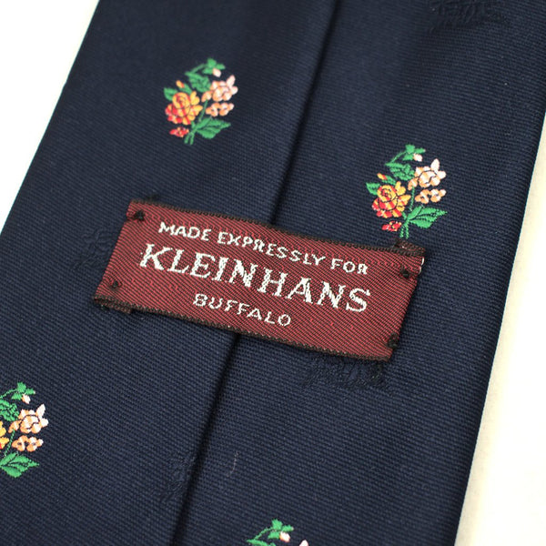 70s does 1940s Navy Bouquet Tie