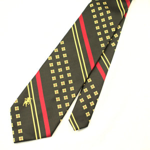 70s does 1940s Olive & Red Tie