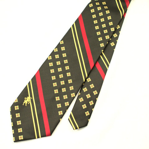 70s does 1940s Olive & Red Tie - Cats Like Us