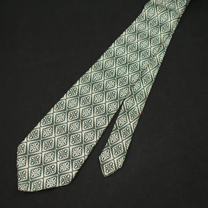 70s does 1940s Olive Floral Tie - Cats Like Us