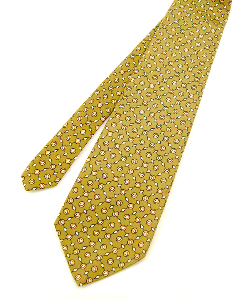 70s does 1940s Olive Geo Tie by Cats Like Us - Cats Like Us