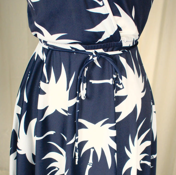 70s does 1940s Palm Tree Dress