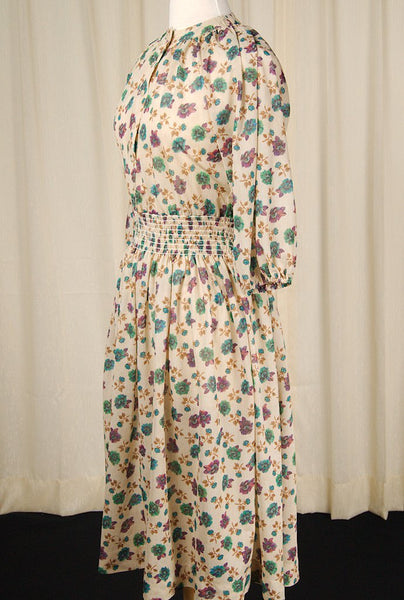 70s does 1940s Peasant Dress