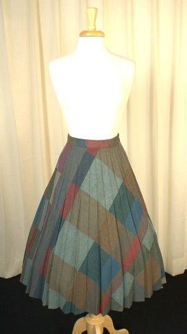 70s does 1940s Pleated Skirt - Cats Like Us