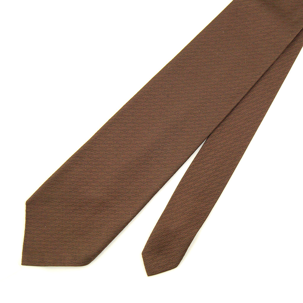 70s does 1940s Solid Brown Tie
