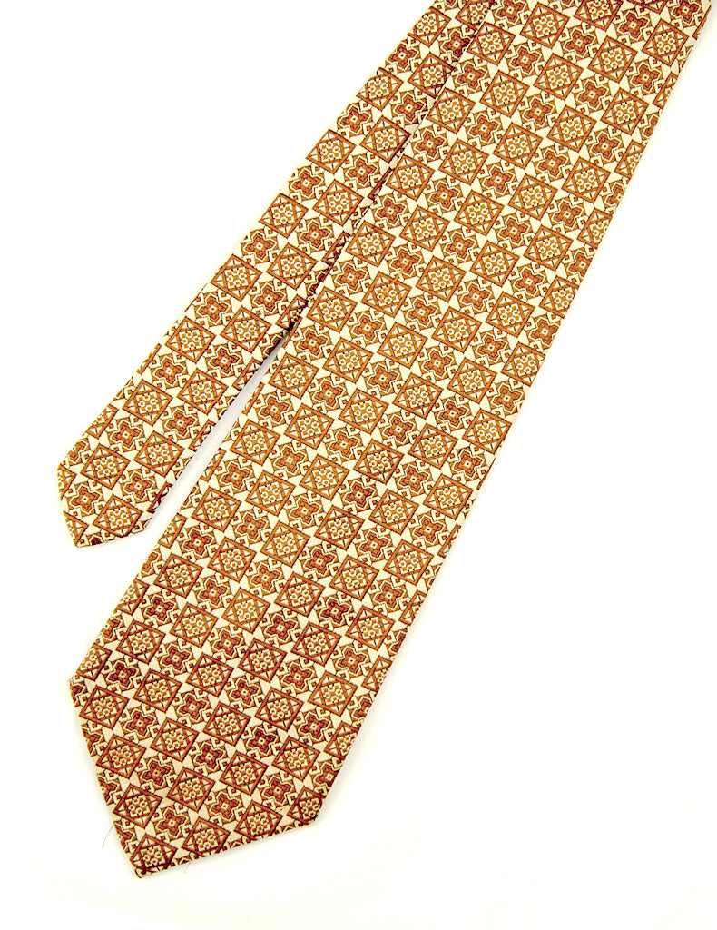 70s does 1940s Tile Tan Tie by Cats Like Us - Cats Like Us