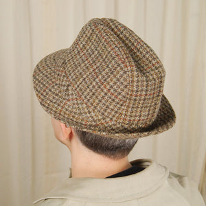 70s does 1950s Houndstooth Hat