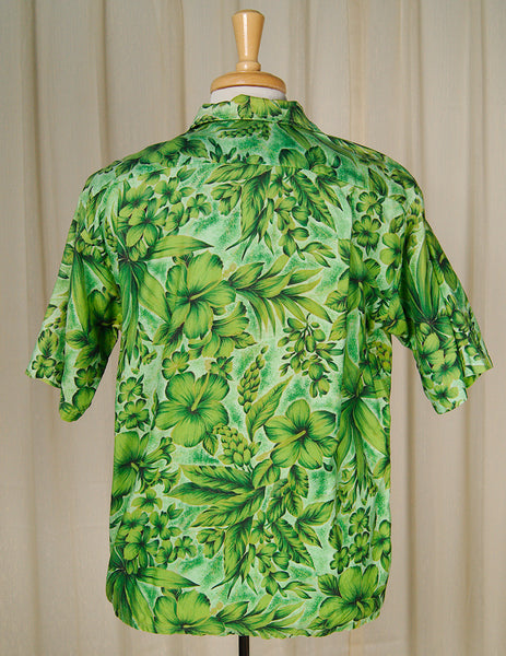 70s does 1950s Lucky Tiki Shirt by Cats Like Us - Cats Like Us