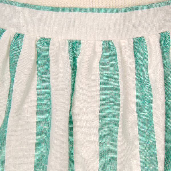 70s does 1950s Striped Skirt