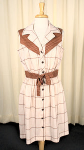 70s does 1950s Vintage Western Dress