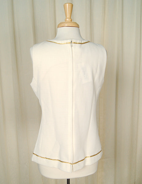70s does 1960s Anchor Shell Top by Cats Like Us - Cats Like Us