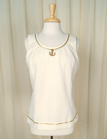 70s does 1960s Anchor Shell Top