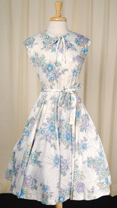 70s does 50s Floral Swing Dress