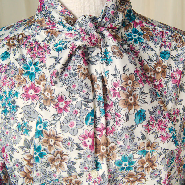 80s does 1940s Bouquet Blouse by Cats Like Us - Cats Like Us