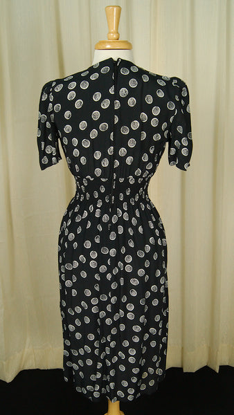 80s does 1940s Dottie Dress by Vintage Collection by Cats Like Us - Cats Like Us