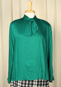 80s does 1940s Emerald Blouse