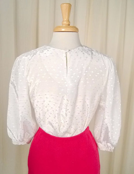 80s does 1940s Heart Blouse