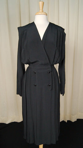 80s does 1940s Low Cut Dress