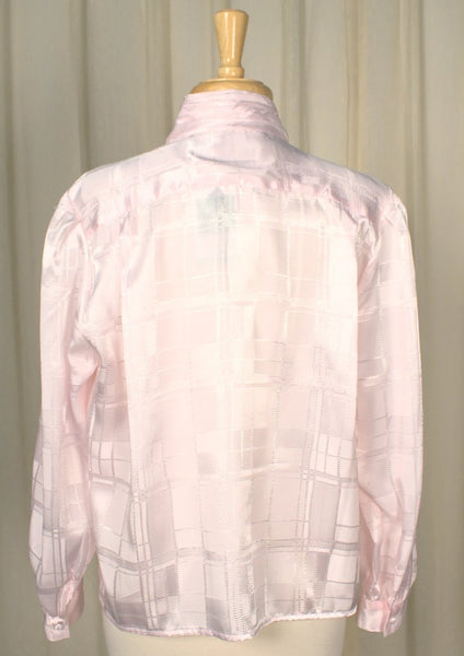 80s does 1940s Pink Vamp Blouse