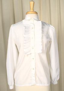 80s does 1940s Pleated Blouse