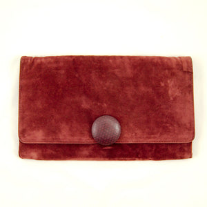 80s does 1940s Plum Clutch Bag