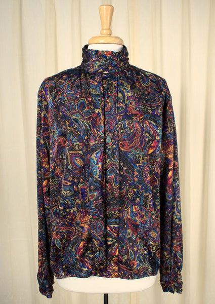 80s does 1940s Rainbow Blouse - Cats Like Us