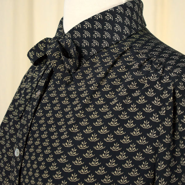 80s does 1940s Silk Deco Blouse