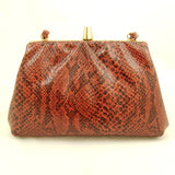 Vintage Collection by Cats Like Us 80s does 1940s Snakeskin Purse