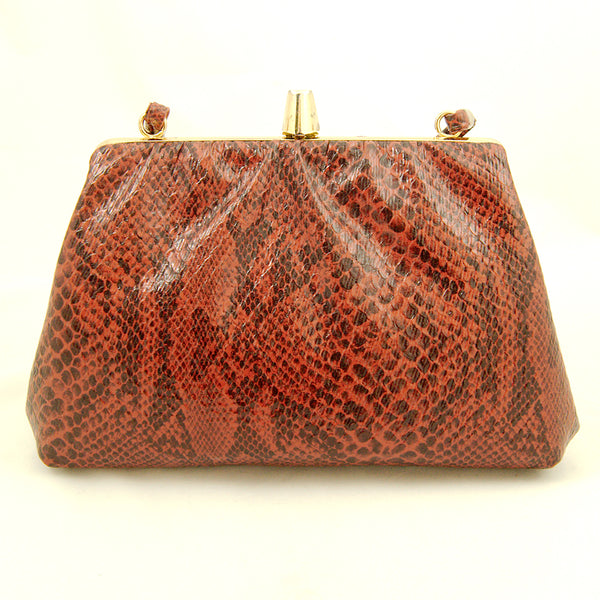 80s does 1940s Snakeskin Purse by Vintage Collection by Cats Like Us - Cats Like Us