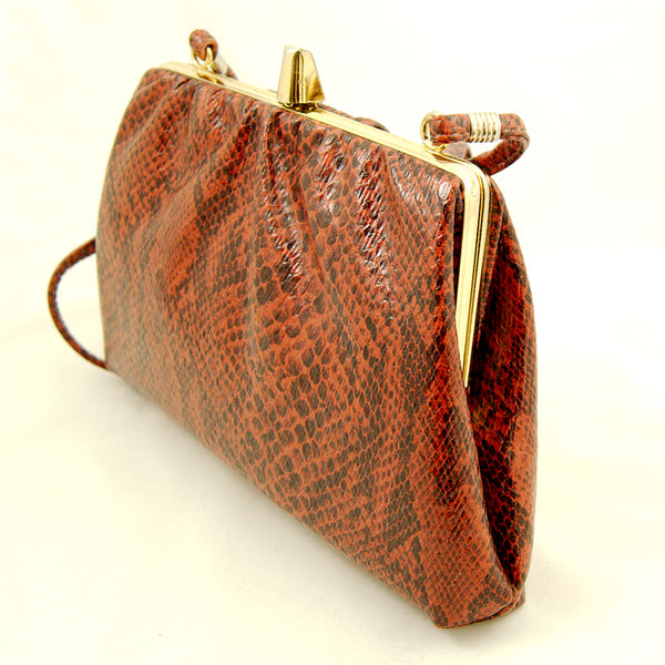 80s does 1940s Snakeskin Purse by Vintage Collection by Cats Like Us : Cats Like Us