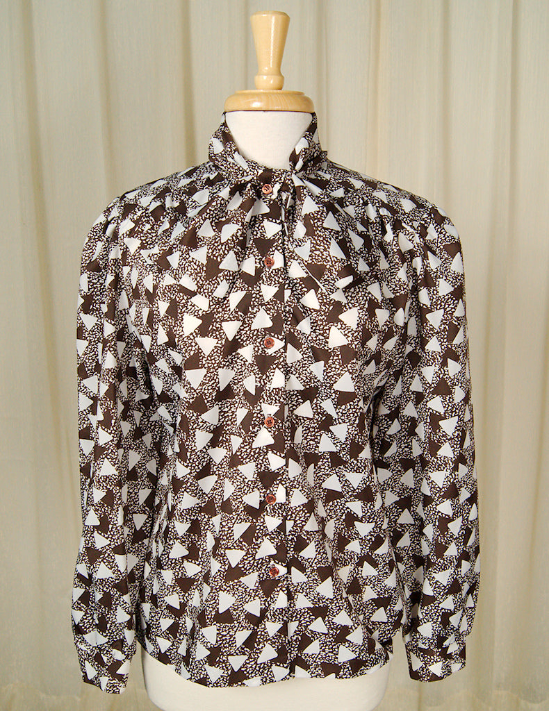 80s does 1940s Triangle Blouse by Cats Like Us - Cats Like Us