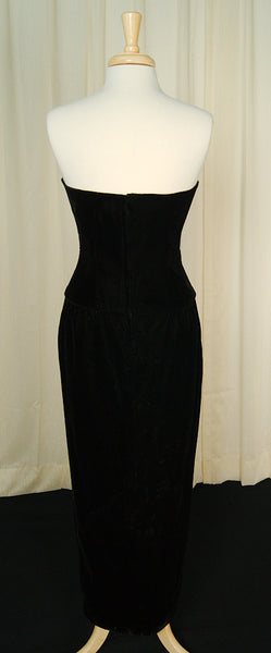 80s does 1940s Velvet Dress by Cats Like Us : Cats Like Us