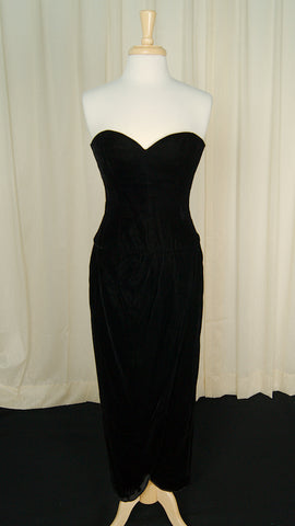 80s does 1940s Velvet Dress by Vintage Collection by Cats Like Us : Cats Like Us