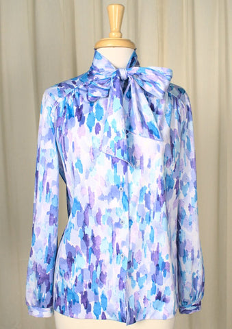 80s does 1940s Watercolor Shirt