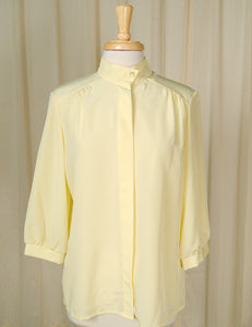 80s does 1940s Yellow Blouse by Cats Like Us - Cats Like Us