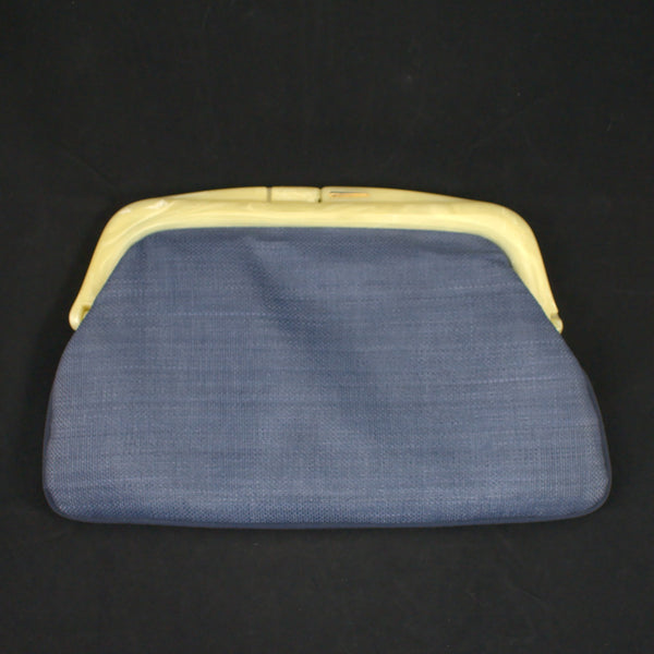 80s does 1950s Blue Clutch Bag