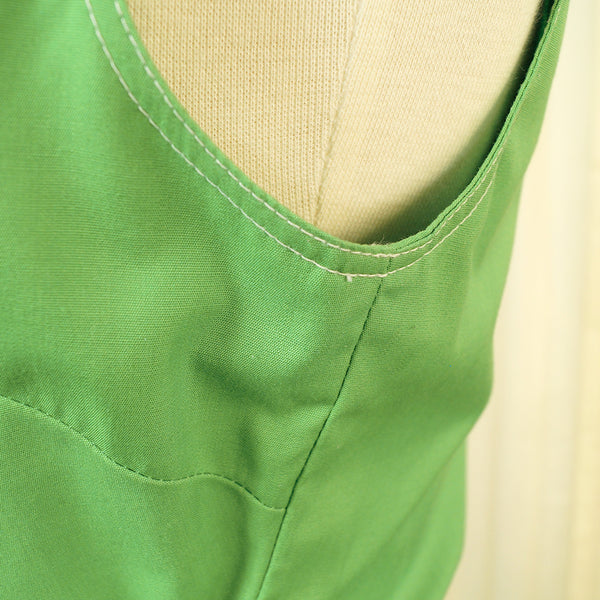 80s does 1950s Green Sun Dress by Vintage Collection by Cats Like Us - Cats Like Us