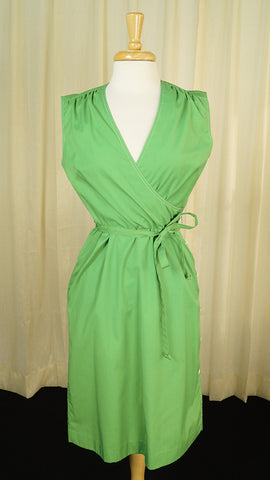 80s does 1950s Green Sun Dress - Cats Like Us