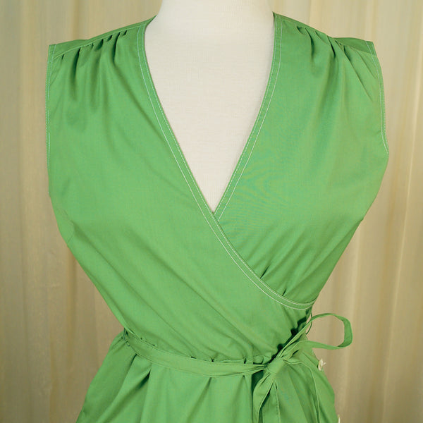 80s does 1950s Green Sun Dress by Vintage Collection by Cats Like Us : Cats Like Us