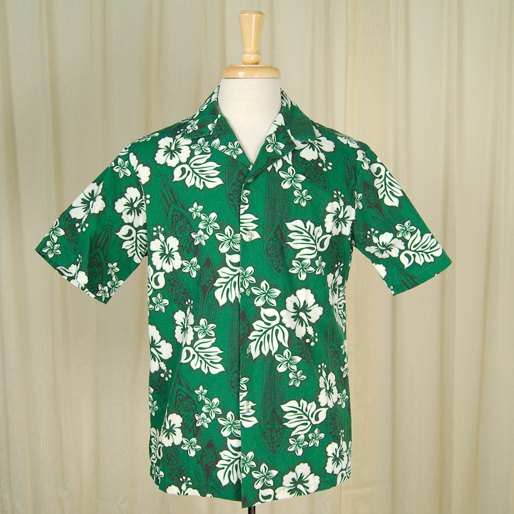 80s does 1950s Hawaiian Shirt by Vintage Collection by Cats Like Us : Cats Like Us